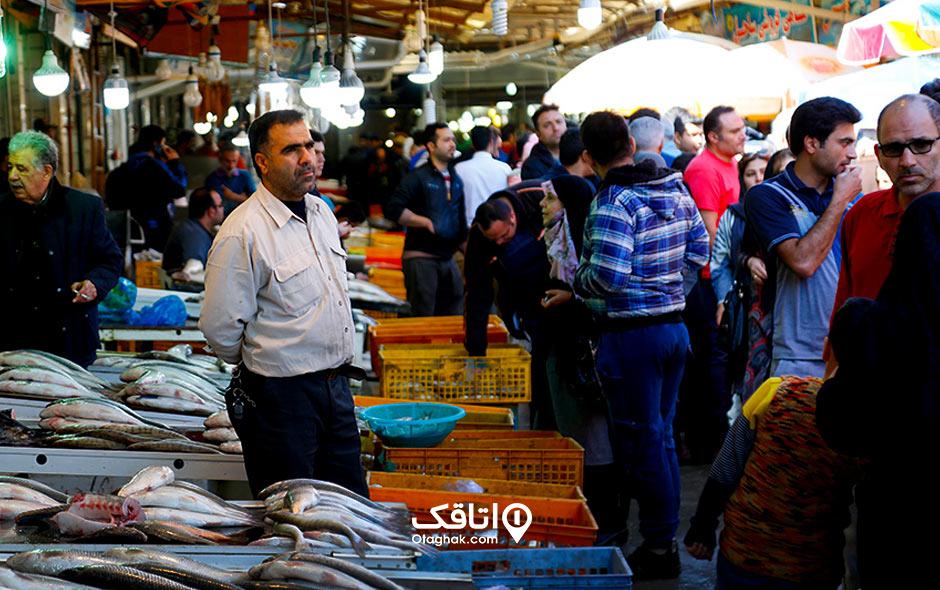 جاذبه توریستی و تفریحی بازار ماهی فروشان