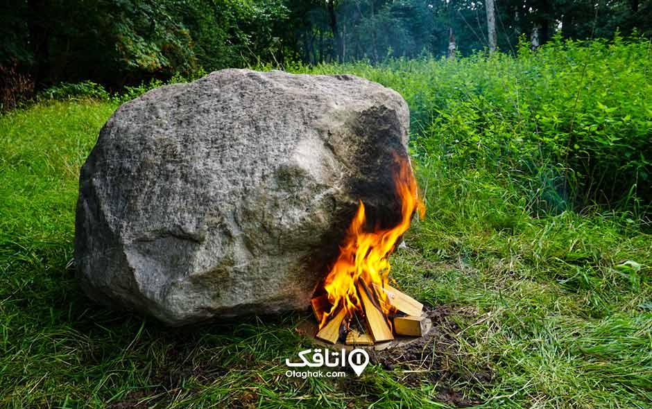 جایگاه روشن کردن آتش در طبیعت