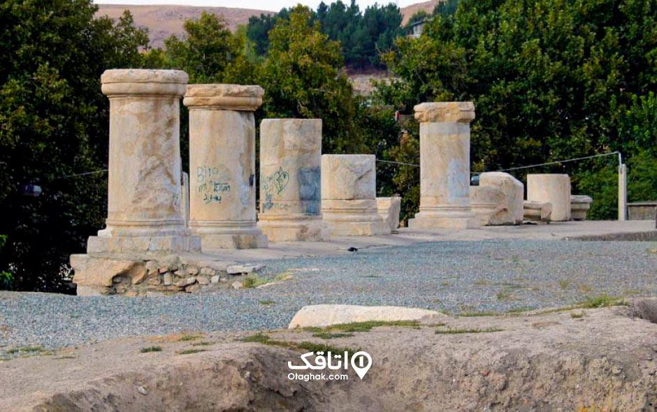 جاذبه توریستی معبد آناهیتا کازرون شیراز