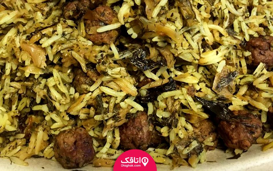 کلم پلو شیرازی از غذاهای ایرانی