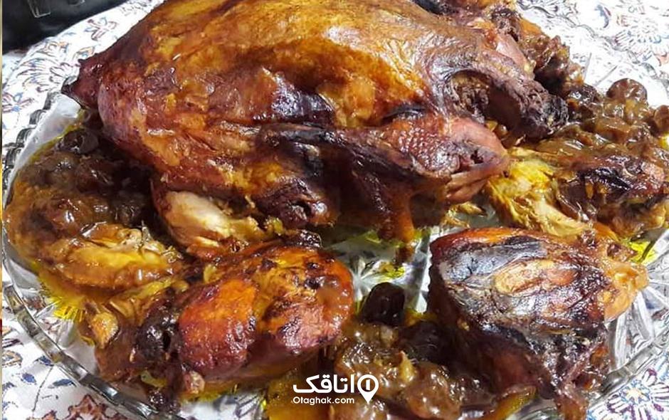 اردک شکم پر غذای خوش طعم رامسر